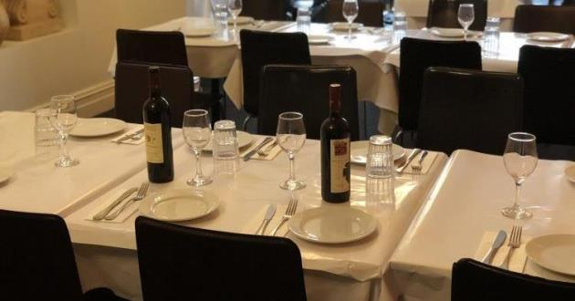 Upstairs Private Function Room Serving Greek Cuisine