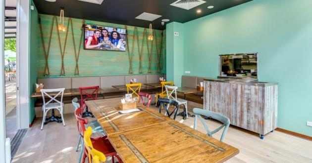 Caribbean Theme Dining Space