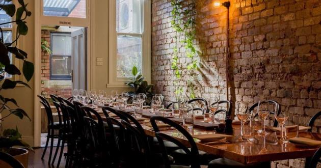 Warmly Lit Non Exclusive Long Table Lunch or Dinner