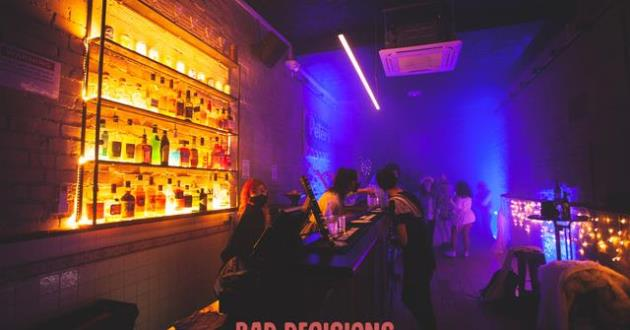 EVENT SPACE UPSTAIRS AT BAD DECISIONS BAR