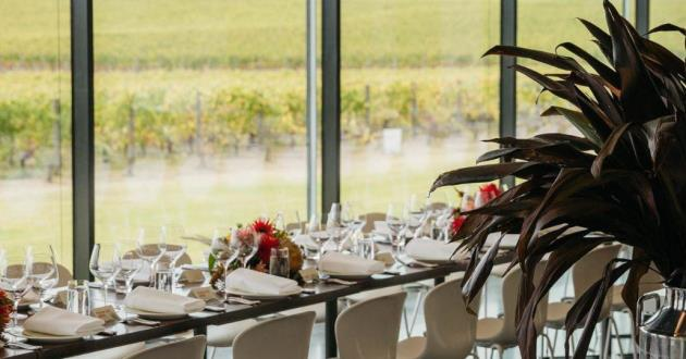 Syrah Room for Private Events with Panoramic Vineyard View