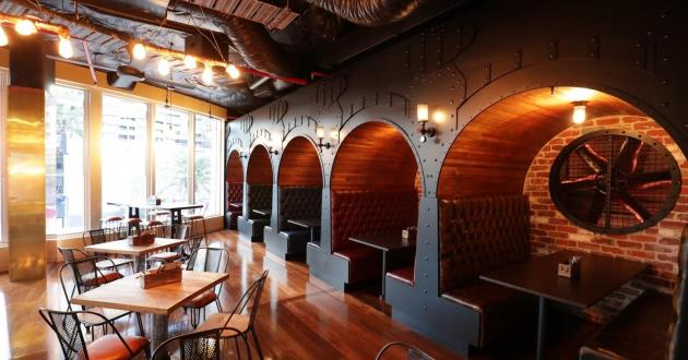 Wooden Mezzanine Booths