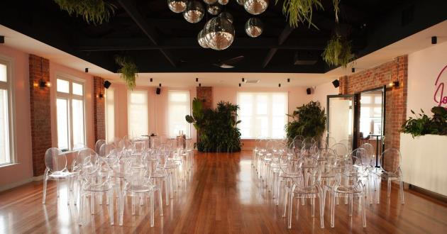 Full Venue with a Large Dining Hall and White Function Rooms