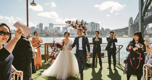 Outdoor Pier Wedding Ceremony