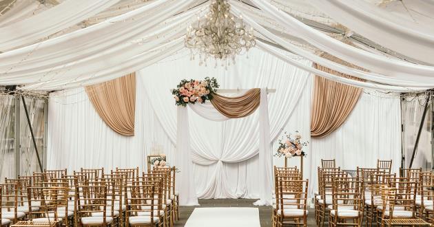 Bridge Marquee Wedding Ceremony