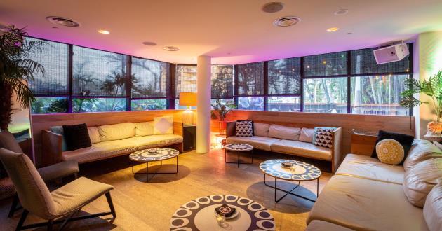 The Raised VIP Area atStingray Lounge at QT Gold Coast Hotel