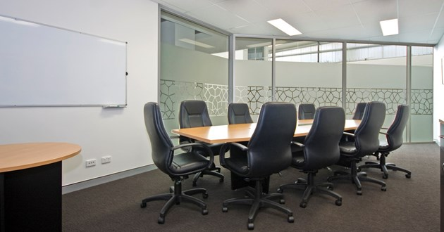 10 Person Boardroom with natural light in Ashgrove
