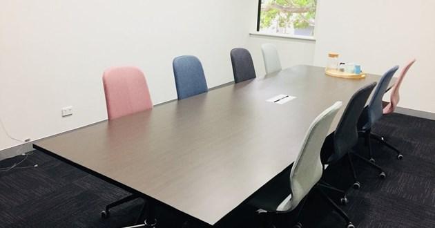 Naturally-Lit 12 Person Boardroom in Alexandria