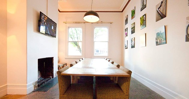 Naturally-lit 12 Person Meeting Space - Private but not enclosed