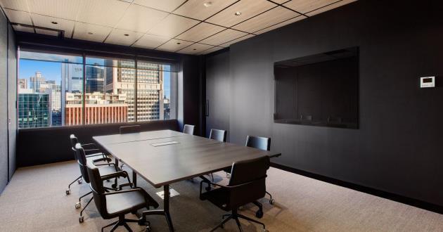 6 Person Boardroom in Melbourne CBD with Cityscape Views