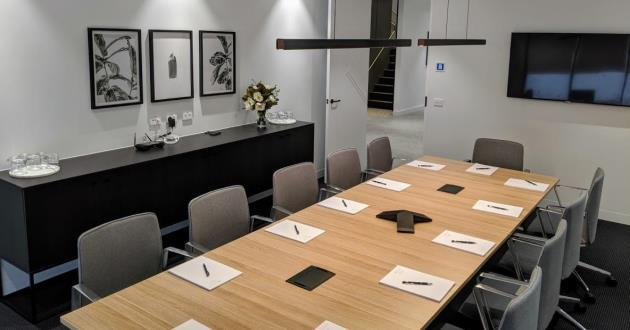 Natural Light Filled 8 Seater Boardroom in Clayton