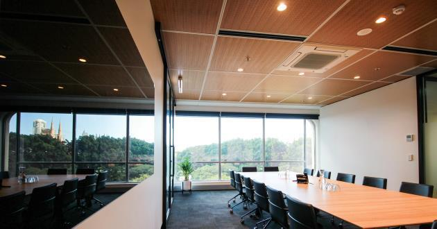 16 Person Boardroom w Natural Light & Views of Hyde Park