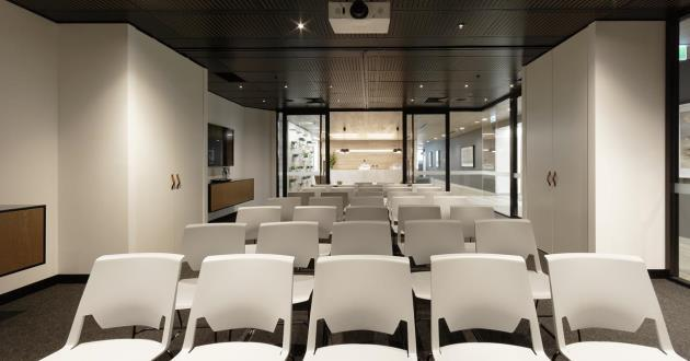 Modern 50 Person Event Space close to Town Hall Station
