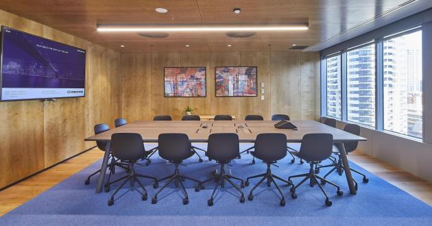 14 Person Boardroom | 10.01 with Natural Light