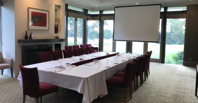 Natural-light filled Meeting Room w golf course views