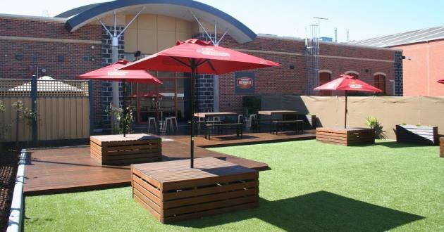Sun-soaked Beer Garden