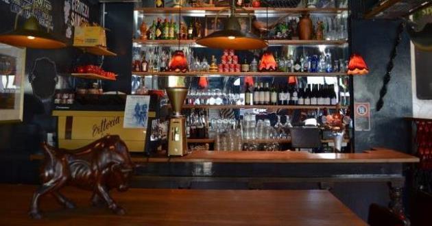 Dark and Moody Restaurant Area