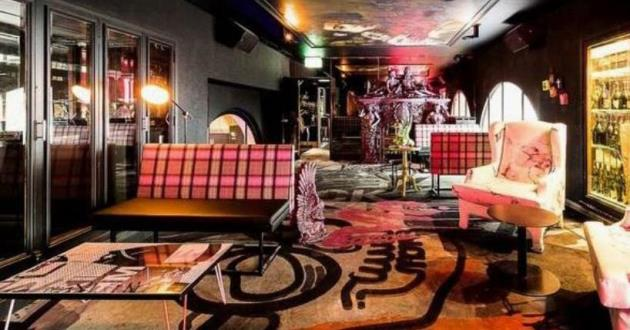 A Sophisticated and Elaborate Private Lounge and Bar