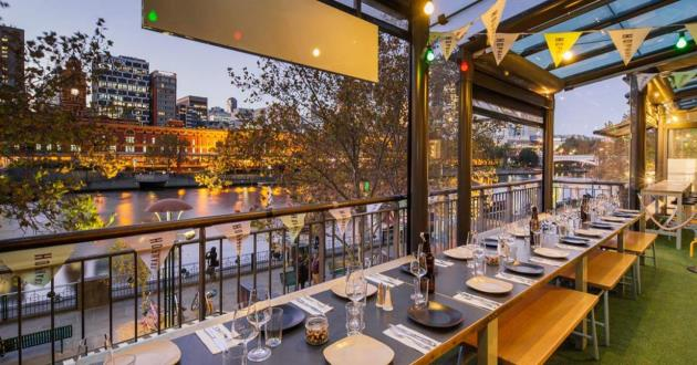 Sunlit Dining Terrace with Yarra Views