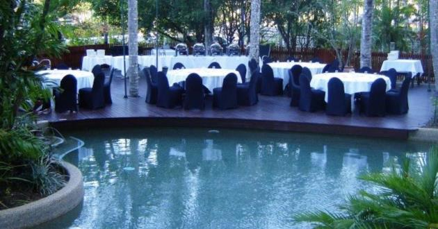 Tropical Garden Pool Deck Event Space
